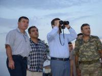 Vali Ünlü, İran sınır hattında incelemelerde bulundu
