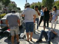 Milas'ta motosikletler çarpıştı: 2 yaralı