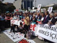 Cumhuriyet Gazetesi yazar ve yöneticilerinin yargılandığı dava öncesi basın açıklaması