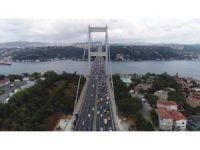 FSM Köprüsü'nde akşam trafiği yoğunluğu