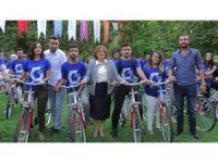 Gaziantep'te 200 bisiklet ile 'Sağlık İçin Pedalla' etkinliği