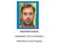 Sağ yakalanan terörist 1 milyon 500 bin liralık mavi listede çıktı