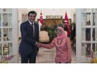 Katar Emiri Şeym Tamim, Singapur'a gitti