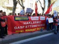 Alman şirketlerinden çıkarılan işçilerden, Başkonsolosluk önünde eylem