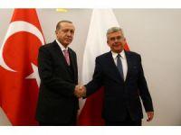 Cumhurbaşkanı Erdoğan, Karczewski ile görüştü