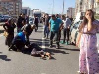 Mahallelinin eylem yaptığı yolda yine kaza: 1 yaralı