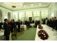 Cumhurbaşkanı Erdoğan Varşova'da onuruna verilen yemeğe katıldı