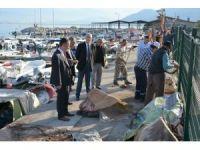 Balıkçı barınağında büyük temizlik