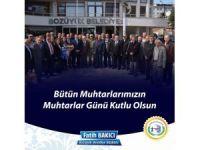Bozüyük Belediye Başkanı Fatih Bakıcı Muhtarlar Günü'nü kutladı
