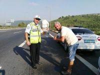 Polisten araç sürücülerine eğitim