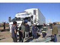 Şanlıurfa'da tır kamyona çarptı: 1 yaralı