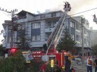 Hisarcık'ta korkutan yangın