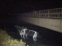 Pikap kamyonete çarpıp su kanalına düştü: 3 yaralı