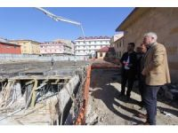 Başkan Memiş, otoparkların inşasını yakından takip ediyor