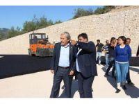 Osmaneli Belediye Başkanı Şahin, yol yapım çalışmalarını inceledi