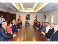 Vali Vekili Mustafa Aydın'a Muhtarlar Günü ziyareti