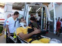 Fethiye'de arazöz uçuruma yuvarlandı: 5 yaralı