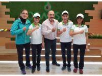 Özel bir şirket Burhaniyeli özel sporculara sponsor oldu