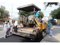 Gümbet Mahallesi'nde asfalt çalışmaları