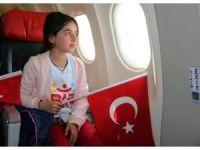 İlk kez uçağa binen Tuncelili çocuklar, Aydın'a gitti