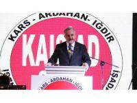 """Bakan Arslan: """"Bakü-Tiflis-Kars demiryolu hattı 30 Ekim'de ilk resmi seferini yapacak"""""""