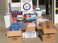 Düzce'de polisinden yasa dışı tütün operasyonu