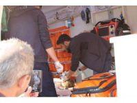 Ambulans helikopter minik Irmak için Rize'den Samsun'a havalandı