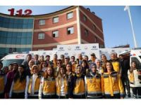 Erzurum 112'e 2 ambulans takviyesi