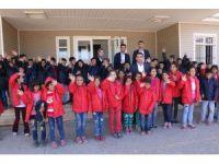 (Görüntü HD)Siverek'te 2 bin öğrenciye mont yardımı yapıldı