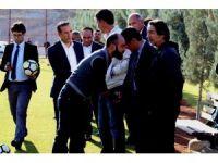 Eski Başkan Mumcu ve yönetiminden maç öncesi destek ziyareti
