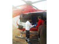 Hava ambulansı 1 günlük bebek için havalandı