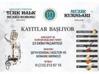 Bilecik Belediyesi Müzik Kursları 23 Ekim'de başlıyor
