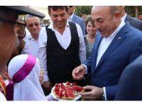 """Bakan Çavuşoğlu: """"Çekirdeksiz nar emsalsiz bir ürün, tüm dünyaya tanıtılması gerekli"""""""