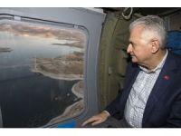 Başbakan Yıldırım Karamağra Köprüsü'nde makam aracını kullandı