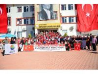 Kumluca'da dördüncü Cumhuriyet Yürüyüşü gerçekleştirildi