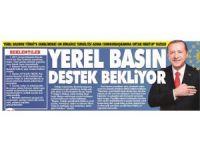Yerel basının Türkiye genelindeki on binlerce temsilcisi adına Cumhurbaşkanına ortak mektup yazıldı