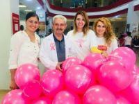 Hastane çalışanları meme kanseri için buluştu