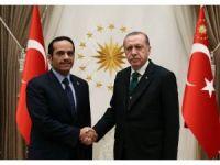 Cumhurbaşkanı Erdoğan, Katar Dışişleri Bakanını kabul etti