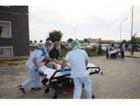 Üniversite hastanesinde deprem tatbikatı yapıldı