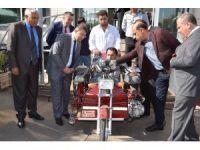 Engelli vatandaşa, özel tasarlanmış motosiklet