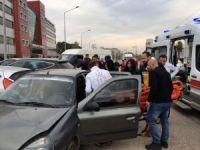 Fatsa'da zincirlime trafik kazası: 2 yaralı