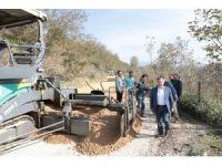 Aslancami'nin sıcak asfaltı tamamlanıyor