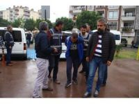 Edremit'te kesik kafa cinayeti zanlıları adliyeye sevk edildi