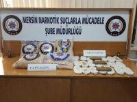 Mersin'de 117 bin 200 adet uyuşturucu hap ele geçirildi