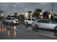 Saruhanlı'da yağmur kaza getirdi