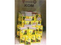 Çay kutularına gizlenmiş kaçak sigaralar ele geçirildi