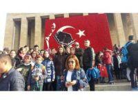 Şehit Ömer Halisdemir Ortaokulu öğrencileri Ata'nın izinde