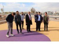 Başkan Yazgı, Tacin Kent Parkta incelemelerde bulundu