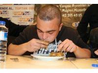 Gaziantep'te baklava yeme yarışması