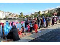 Batma tehlikesi geçiren göçmenleri Sahil Güvenlik kurtardı